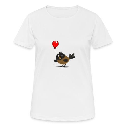 vogeltje met ballon - vrouwen T-shirt ademend