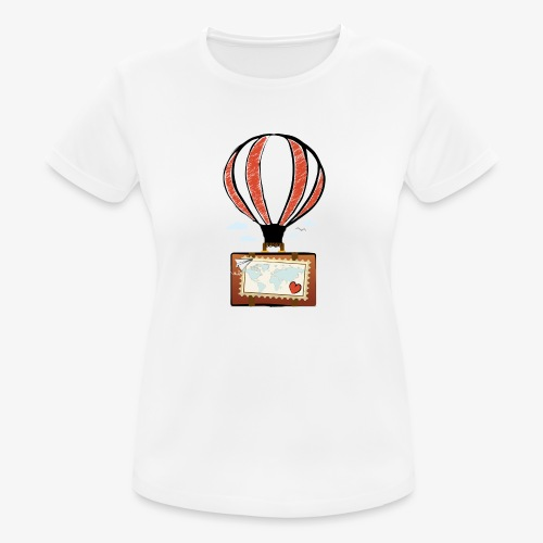 CUORE VIAGGIATORE Gadget per chi ama viaggiare - Maglietta da donna traspirante