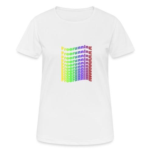 Freerunning Rainbow - Dame T-shirt svedtransporterende