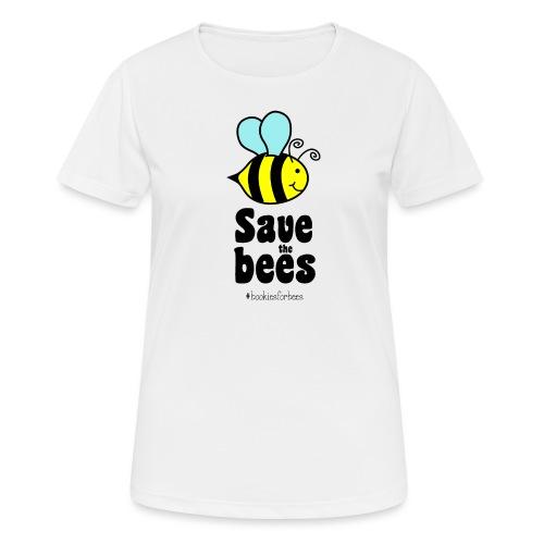 Bees9-1 save the bees | Bienen Blumen Schützen - Women's Breathable T-Shirt