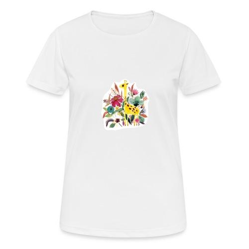 Jirafa paint nature - Camiseta mujer transpirable