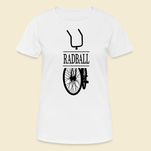 Radball | Retro Black - Frauen T-Shirt atmungsaktiv