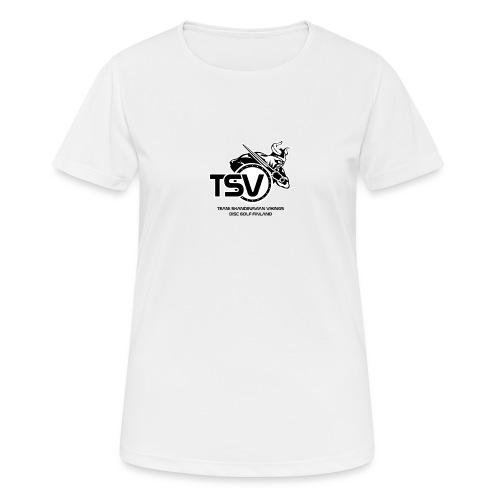 TSV logo koko musta - naisten tekninen t-paita