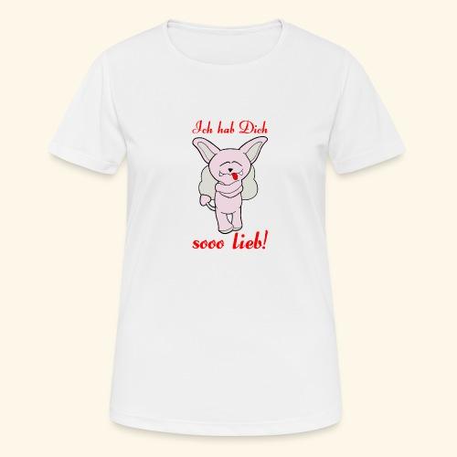 Zwergschlammelfen - Ich hab Dich so lieb! - Frauen T-Shirt atmungsaktiv