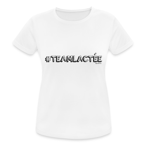 teamlacte e noir - T-shirt respirant Femme