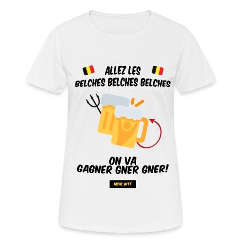 Allez les belches! - T-shirt respirant Femme
