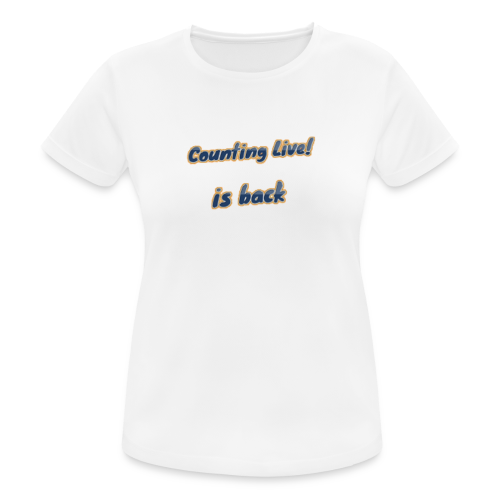 Counting Live Sport - vrouwen T-shirt ademend