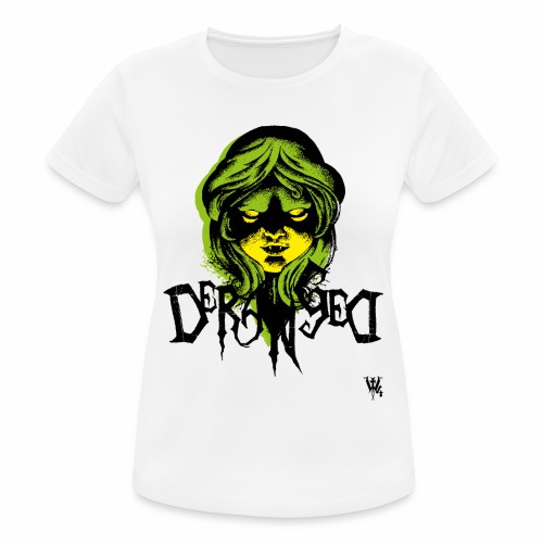 DerangeD - Tattoo Metal Horror Vampire - Dame T-shirt svedtransporterende