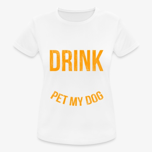 Drink Beer and Pet My Dog Beer Lover Gift Tshirt - Women's Breathable T-Shirt