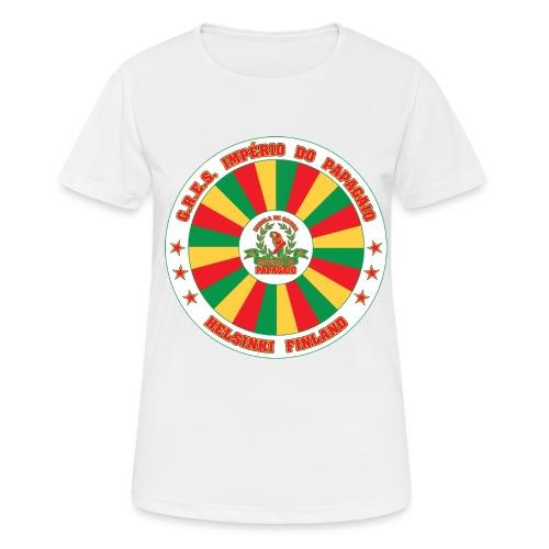 Papagaio drum logo - naisten tekninen t-paita