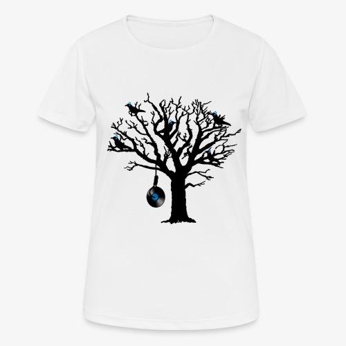 Musical Birds in Tree 2 blau Hangman Vinyl - Frauen T-Shirt atmungsaktiv