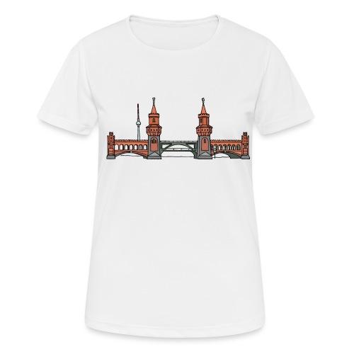 Oberbaumbrücke w Berlinie c - Koszulka damska oddychająca