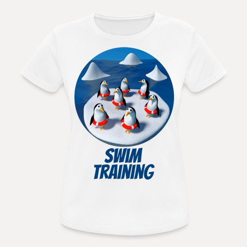 Pinguine beim Schwimmunterricht - Women's Breathable T-Shirt