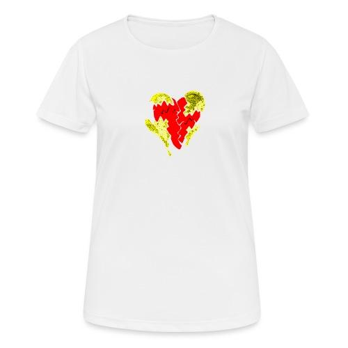 peeled heart (I saw) - Women's Breathable T-Shirt
