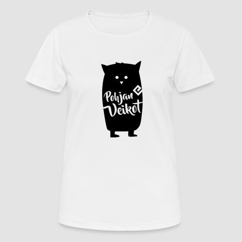 Veikko-pöllö - naisten tekninen t-paita