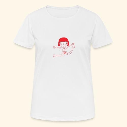logo happy - T-shirt respirant Femme