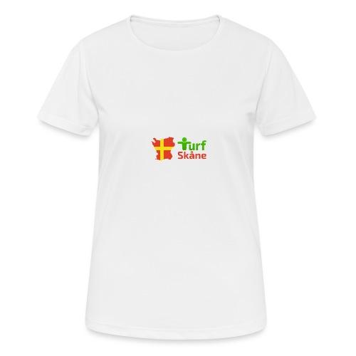 Turf Skåne Logo röd - Andningsaktiv T-shirt dam