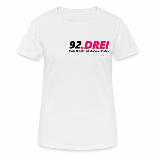 Schriftlogo - Frauen T-Shirt atmungsaktiv