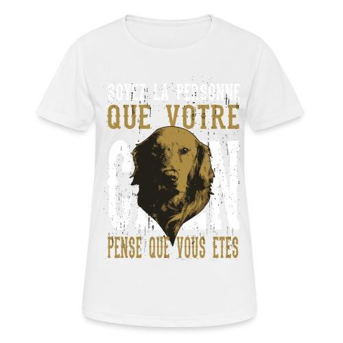 Un amour de chien - T-shirt respirant Femme