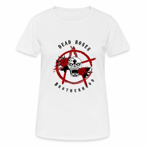 Dead Roses Anarchy Skull Black - Women's Breathable T-Shirt