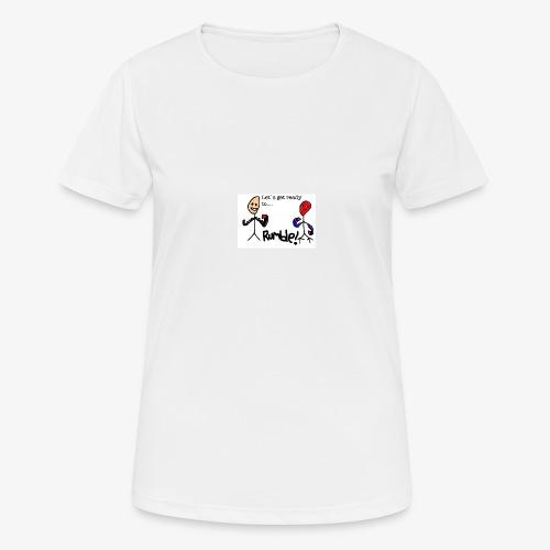 Let`s get ready to rumble! logo - Pustende T-skjorte for kvinner