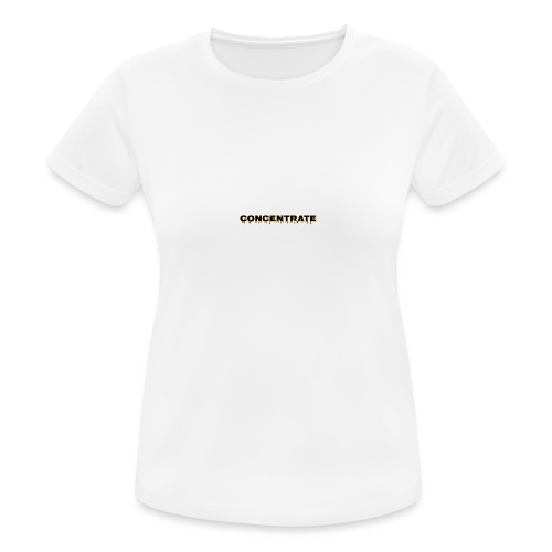 Concentrate on white - Women's Breathable T-Shirt