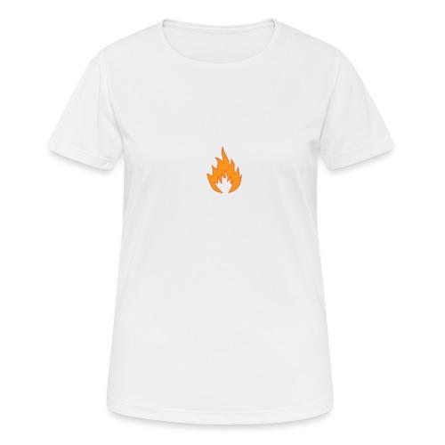 Flame BLACK - T-shirt respirant Femme