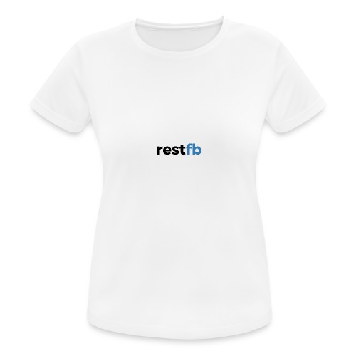 RestFB logo black - Women's Breathable T-Shirt
