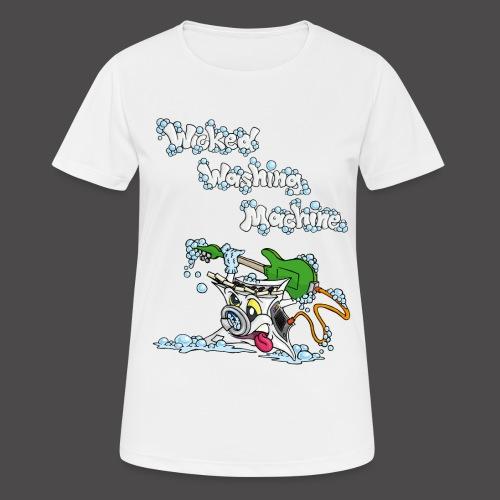 Wicked Washing Machine Cartoon and Logo - vrouwen T-shirt ademend