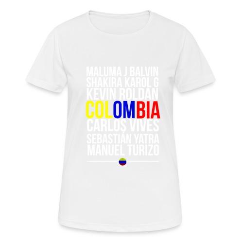 Reggaeton Shirt Kolumbien - Frauen T-Shirt atmungsaktiv