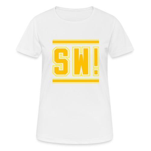 SUPER WANG!, Kontrast Hoodie, schwarz-gelb, mit Lo - Frauen T-Shirt atmungsaktiv