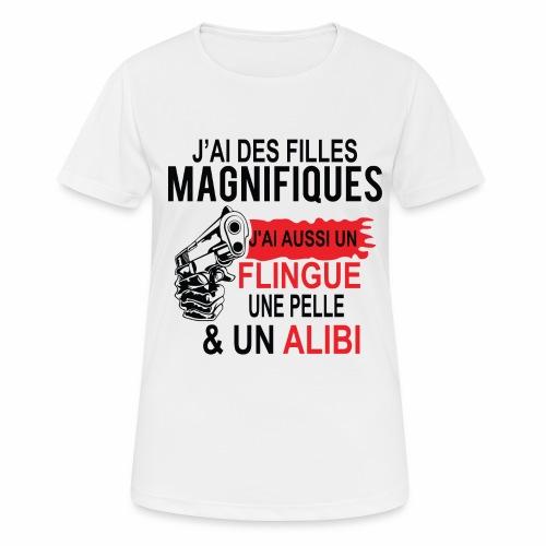J'AI DEUX FILLES MAGNIFIQUES Best t-shirts 25% - T-shirt respirant Femme