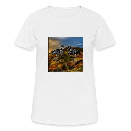 Flamingo Haluzination Bio - Frauen T-Shirt atmungsaktiv