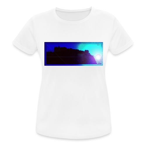 Silhouette of Edinburgh Castle - Women's Breathable T-Shirt