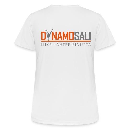 DynamoSALI_logo - naisten tekninen t-paita