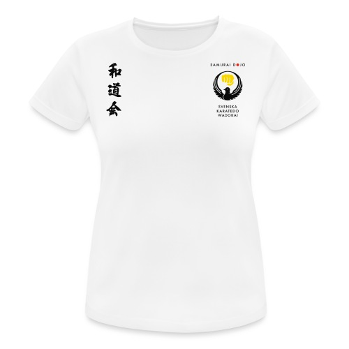 KKSD 3sides white - Andningsaktiv T-shirt dam
