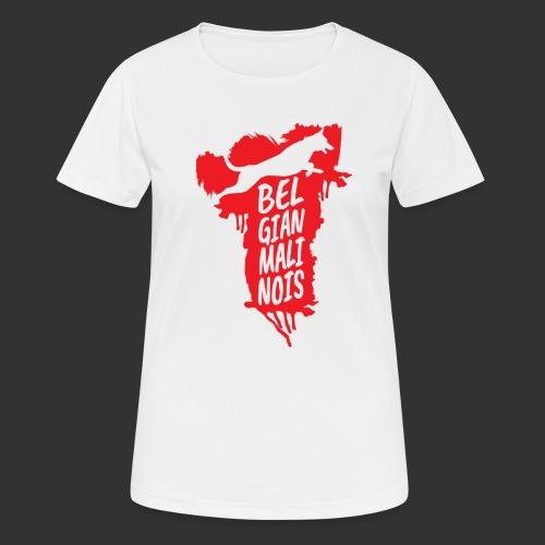 Belgian Malinois JUMP - naisten tekninen t-paita