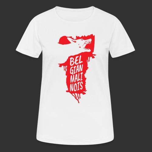Belgian Malinois HEAD - naisten tekninen t-paita