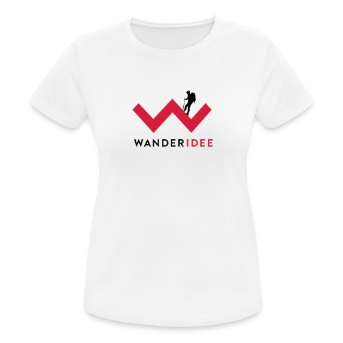 wanderidee_Logo_negativ_S - Frauen T-Shirt atmungsaktiv