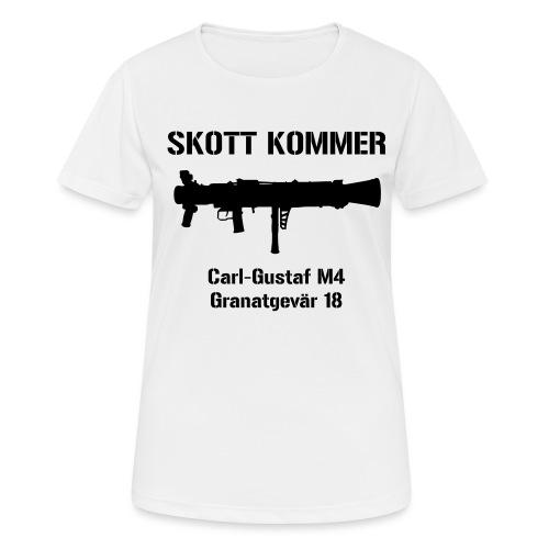 SKOTT KOMMER - KLART BAKÅT - SWE Flag - Andningsaktiv T-shirt dam