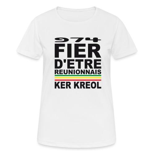 974 Fier d'être Réunionnais - 974 Ker Kreol v1.2 - T-shirt respirant Femme