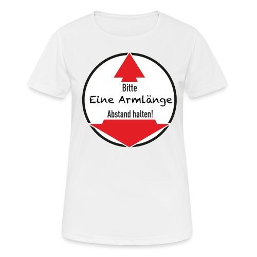 Eine Armlänge transparent - Frauen T-Shirt atmungsaktiv