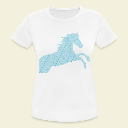 Cheval feuille - T-shirt respirant Femme