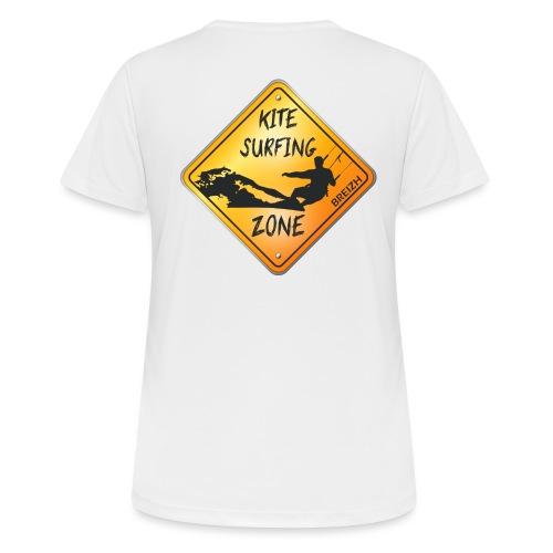 KITESURFING ZONE BREIZH - T-shirt respirant Femme
