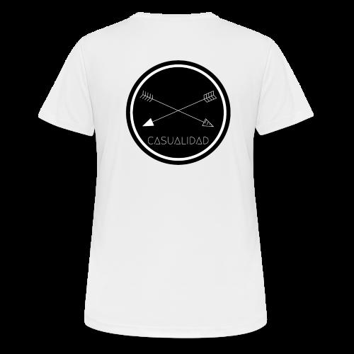CASUALIDAD circular black logo - Maglietta da donna traspirante