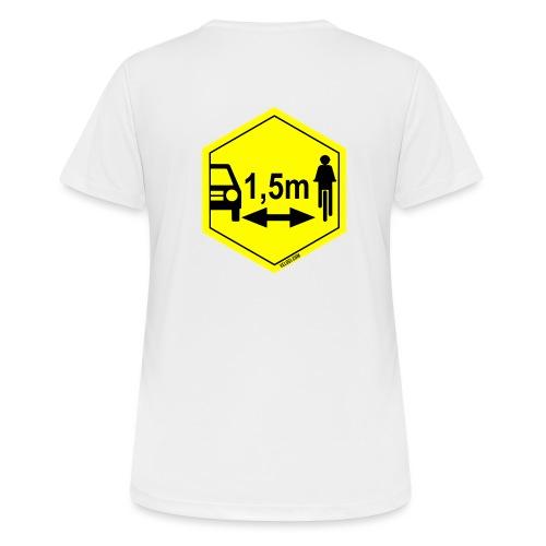 Turvaetäisyys 1,5 m - naisten tekninen t-paita