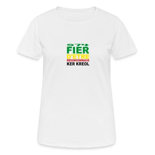 Logo fier d'etre kreol 974 ker kreol - Rastafari - T-shirt respirant Femme