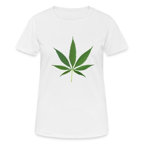 2000px-Cannabis_leaf_2 - Dame T-shirt svedtransporterende