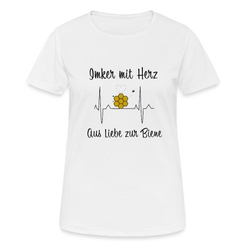 Imker mit Herz Aus Liebe zur Biene - Frauen T-Shirt atmungsaktiv