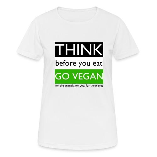 go vegan - Maglietta da donna traspirante